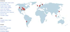 Google's datacenters locations
